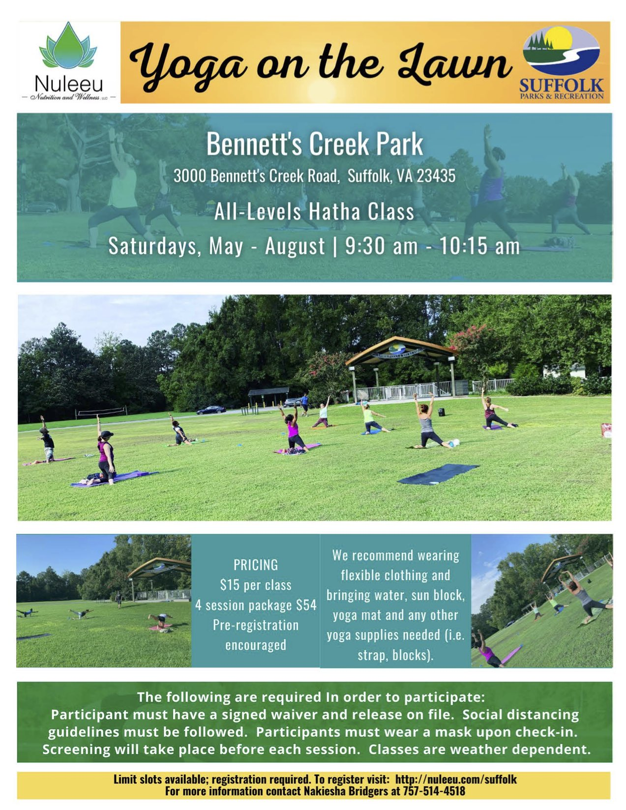 Yoga on the Lawn 2021 Flyer